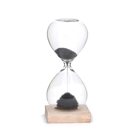 Kikkerland Reloj De Arena Magnético Negro ( 1 Min )