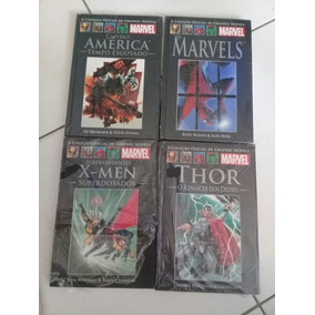 Lote Com 4 Gibis Marvel Capa Dura Thor, X-men, Marvels E C.a