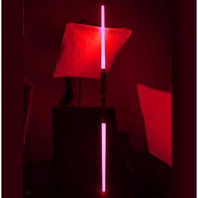Light Saber Duplo Vermelho Sabre De Luz Som Star Wars(video)