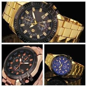 Relógio Importado Masculino / Feminino, Dourado Ou Rosê