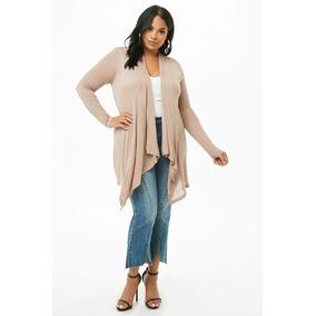 Forever 21 Plus Size Cardigan Sweatere Abierto Beige 3xl