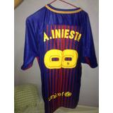 Camisa Barcelona Iniesta Tam M - Camisa Barcelona no Mercado Livre ... 166d2f077ffb4