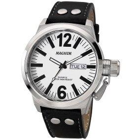 Relógio Magnum Masculino Ma31524 Analógico Couro Preto