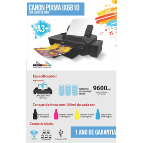 Impressora Canon Pixma Ix6810 Com Bulkink Adaptado