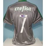 Camisa Palmeiras Prata Patch 2015 Original adidas Dudu