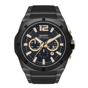 Relógio Orient Masculino Aço Preto Cronógrafo Mtssc021 P2px