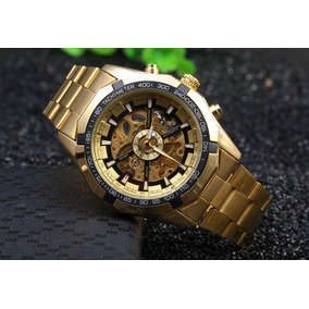 6e8ee138d3c Relógio Winner Mecânico Automático Skeleton Prata Inox - Relógios De ...
