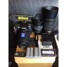 Nikon D90 12 Mpx Y Video Accesorios Impecable