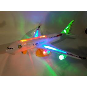 Avião Brinquedo C/ Luz Som E Movimento E Simula Voô !