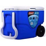 Caixa Térmica C Rodas Alça Coleman 40qt 38 L Vermelho E Azul