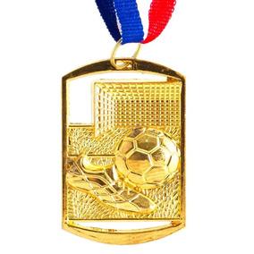Kit/c 150 Medalhas Futebol Retangular 40x60 Dourada - Fa469