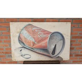 Antigo Quadro Da Coca Cola Tamanho Grande!