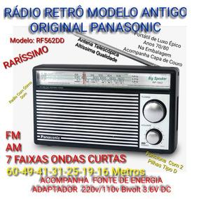 Rádio Retro Luxo Épico Panasonic Fm Am Oc, 7 Ondas Curtas