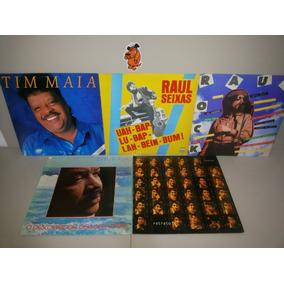 Lp Vinil Tim Maia Raul Seixas Fagner - Lote 5 Discos