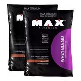 1 Whey Protein Blend Refil - Max Titanium - 2kg .