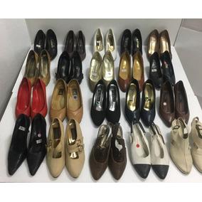 586b07c7129 Lote De Sapatos Para Brecho Feminino - Calçados