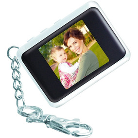 Porta-retrato Digital Chaveiro Coby Lcd 1.5 Polegadas Branco