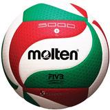 Balon Voleibol Molten 5000 Flistatec Piel Sint. Tricolor Pro