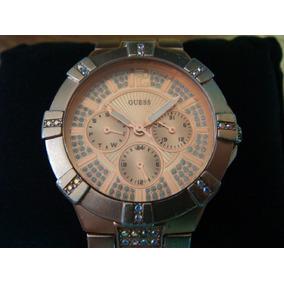 Reloj Guess P/dama. Aluminio Sólido C/swarovsky.