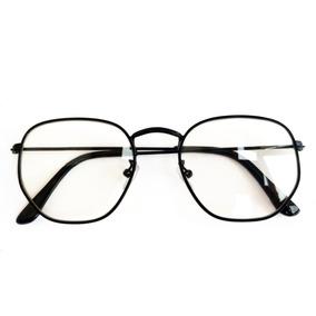 d4da1e91c Oculos Hexagonal Masculino De Grau - Óculos Preto no Mercado Livre ...
