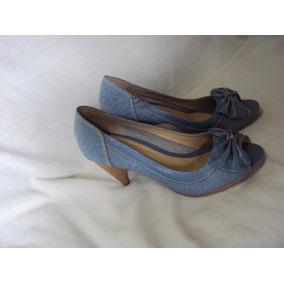 Sapato Azul Romanza Tamanho 38