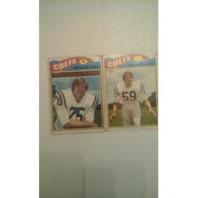 1977 Topps Mexican Nfl Del Equipo De Colts 2 Cartas b30b764cb54