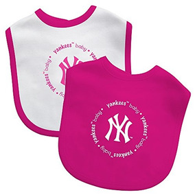 Mlb New York Yankees Baby Fanatic Bib Paquete De 2 , Rosa
