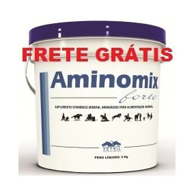 Aminomix Forte 5kg Vetnil - Validade Setembro/2020