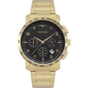 d3aa1215fb196 Lindo Relogio Technos Skymaster Cronografo Banhado A Ouro - Relógios ...