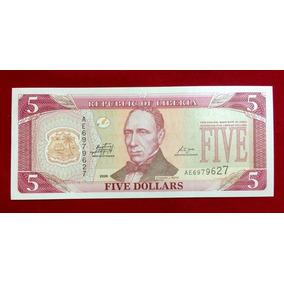 Cédula Libéria - Five Dóllares - 5 Dólares 2009 Fe