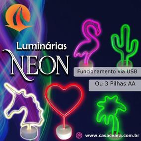 Luminaria Led Neon Festa Cacto Unicornio Luz Letreiro
