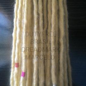 Combo 30 Dreads Sinteticos 50 Cm (loiro) Plat* 8mm Finos