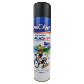 Tinta Spray Eucatex Premium Uso Geral Cor Preto Fosco