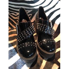 Zapatos Con Plataforma Charolado