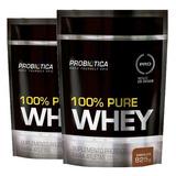 Kit Combo 2 100% Pure Whey Protein Refil 825g Probiótica