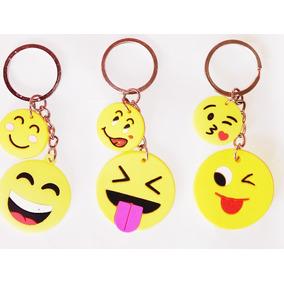 Chaveiro Emoji Whatzapp Borracha 2 Dúzias