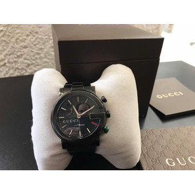 Hermoso Reloj Gucci Original Cronógrafo Mod 101 Acero Black