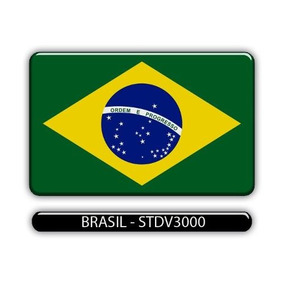 Adesivo Automotivo Bandeira Paises Brasil Resinado
