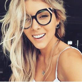 5b07dc847823f Armação De Óculos Gatinho Linda Estilosa Blogueiras Com Case