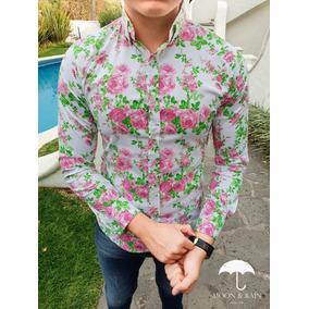 5d907ac81ed2b Camisas Floreadas Hombre - Camisas Casuales Manga Larga de Hombre en ...