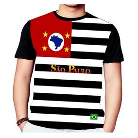 Camiseta Bandeira Estado São Paulo - Camisetas Manga Curta no ... 49fe828399423