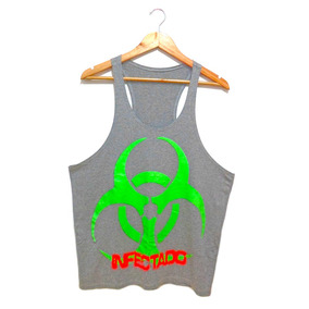Camiseta Masculina Regata Cavada Infectado Queima De Estoque f616fcfa656