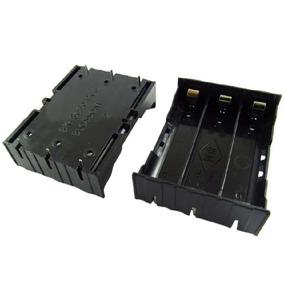 Kit Com 3 Suporte Plastico Abs Para 3 Baterias 18650 Lítio
