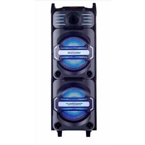 Caixa De Som Amplificada Dj Bluetooth Led Sp282 350w Rms