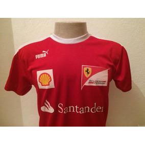 687c53c798 Camiseta Ferrari Santander Gola Careca Masculina Promoção