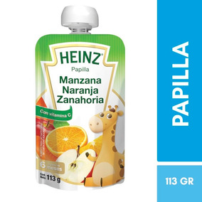 Papilla Manzana Naranja Zanahoria Doypack 113 G Heinz