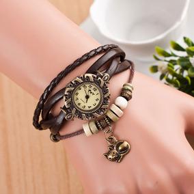 f0d34c5bcc9 Pulseira Feminina Couro Com Pingente - Relógios no Mercado Livre Brasil