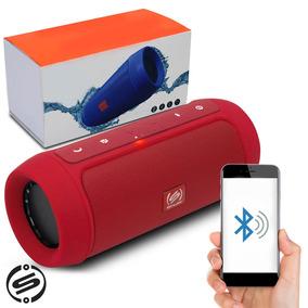 Caixa Som Bluetooth Charge 2+ Plus Mp3 Usb P2 Shutt Vermelha