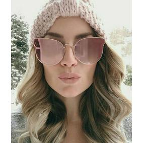 c8473be4519ae Oculos Gatinho Espelhado Rosa Gold - Óculos De Sol Sem lente ...