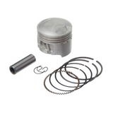 Pistão Kit Com Anel Kmp - Moto Shineray Xy50q 0.25 + Brinde